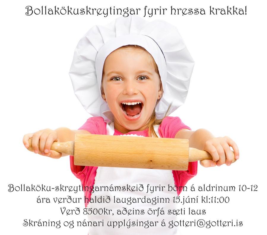 Bollakökuskreytingar - börn - lítil
