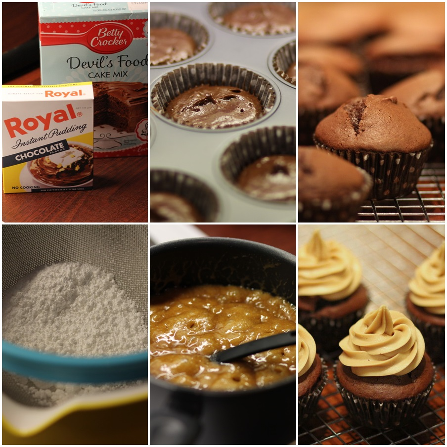 Salted caramel cupcake step by step