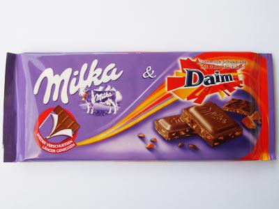 Milka&Daim-kökupinnar