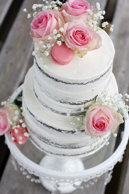 Naked cake fyrir sveitabrúðkaup