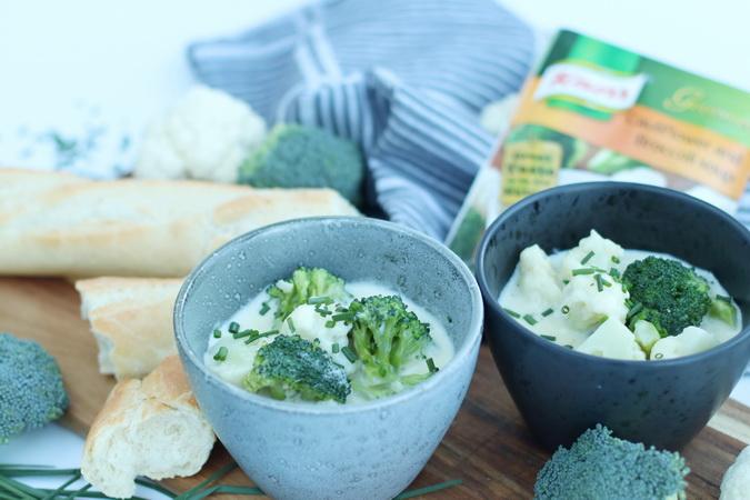 Blómkáls- og brokkolísúpa