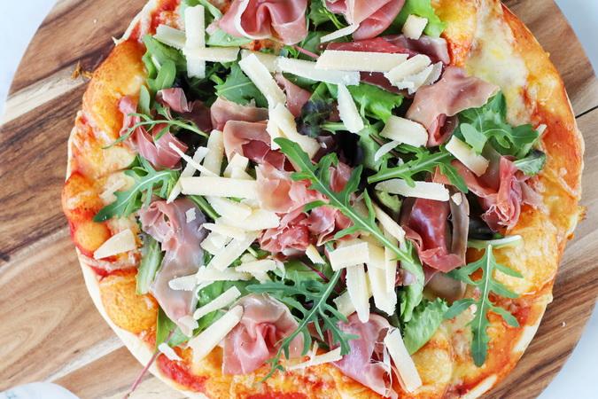 Grilluð pizza