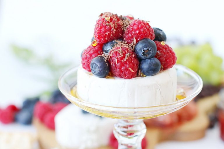 Brie cheese and berries