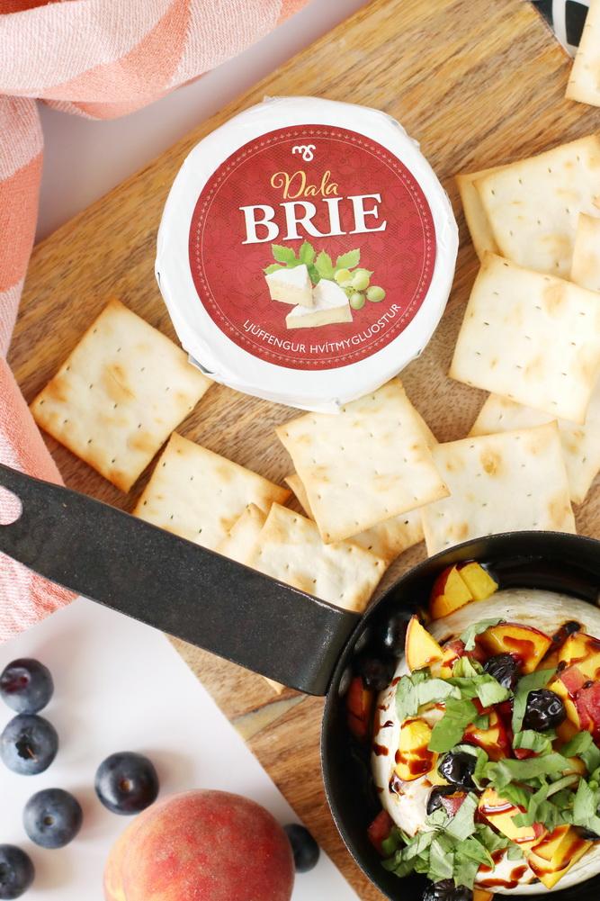 Brie ostur bakaður