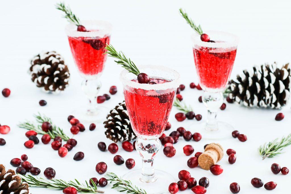 Cranberry prosecco; jóladrykkur; jólakokteill; christmas drink; christmas coktail
