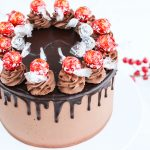 Drip chocolate cake with Lindt chocolate decoration