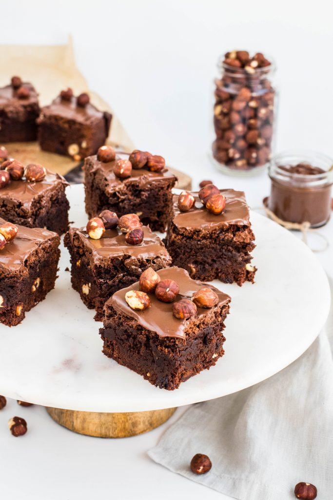 Brownies með súkkulaði, heslihnetum og súkkulaðismjöri