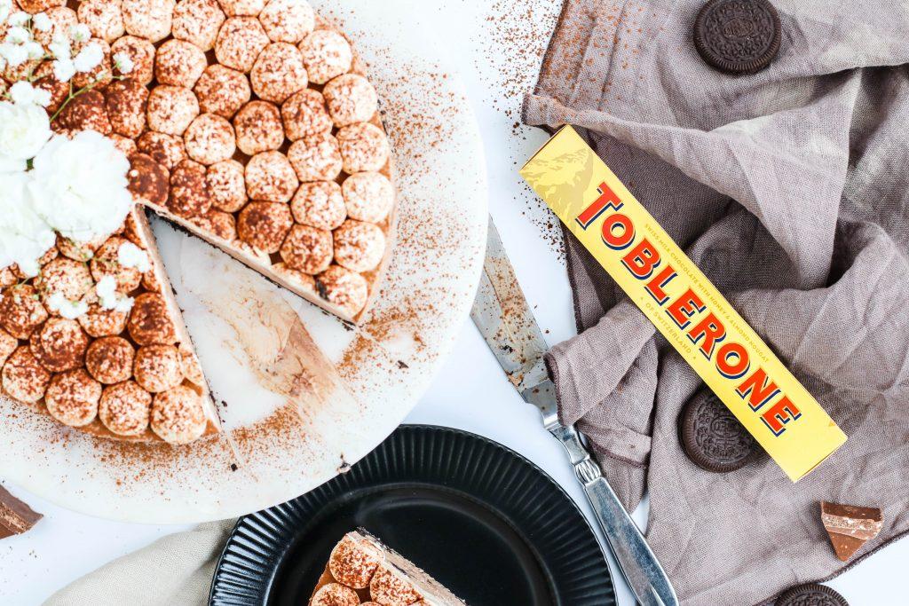 Súkkulaði ostakaka með Toblerone og Oreo