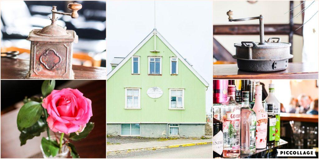 Café Riis á Hólmavík er með dásamlegar pizzur, fisk, salöt og fleira