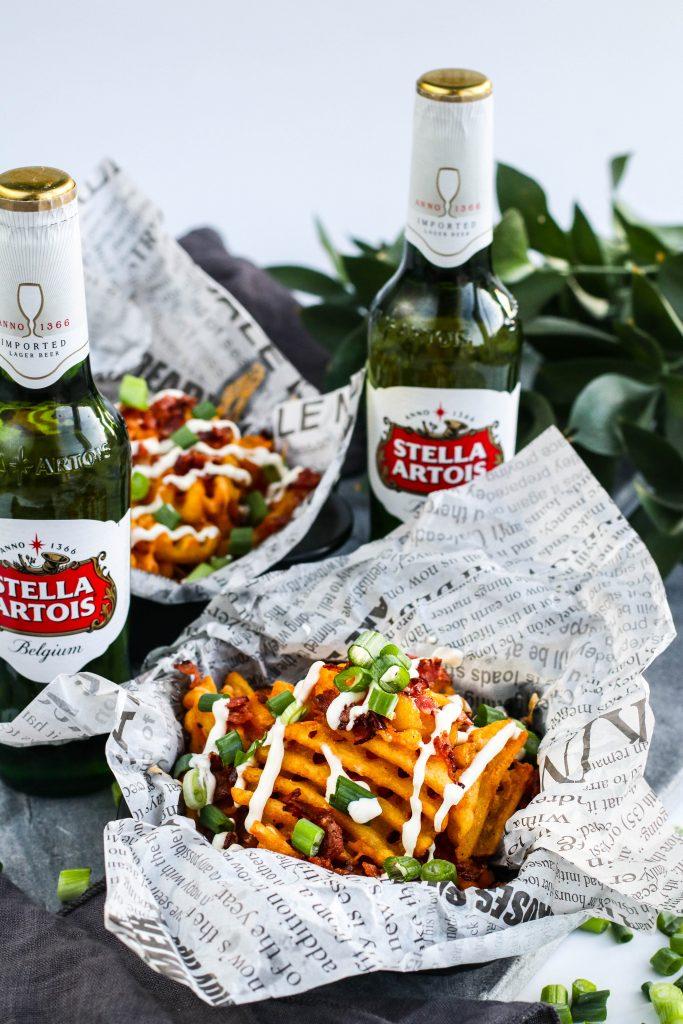 Stella Artois bjórinn er fullkominn með vöfflufrönskum