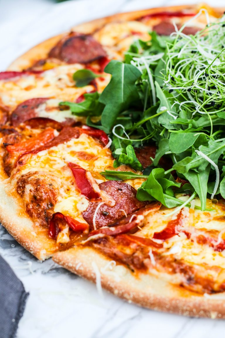 Heimagerð pizza
