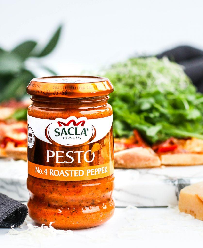 Pizza með Sacla pestó