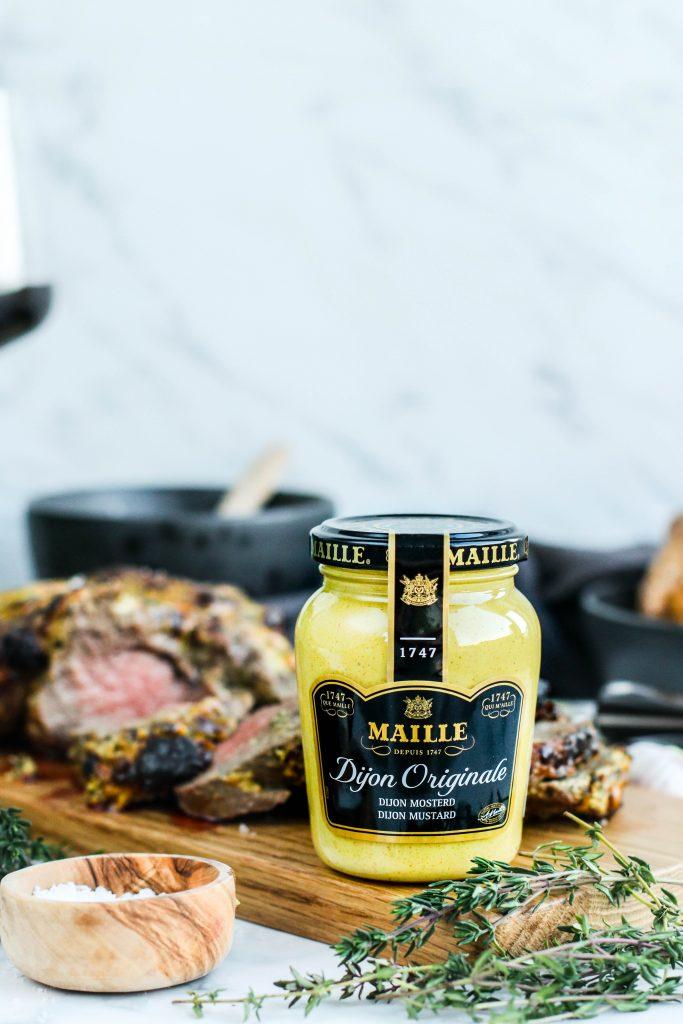 Dijon sinnep á steikina frá Maille