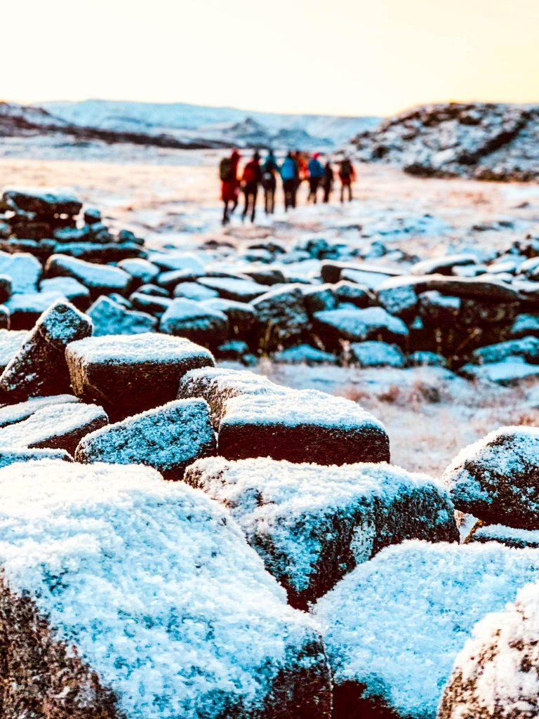 Búrfell upp af Hafnarfirði gönguleið