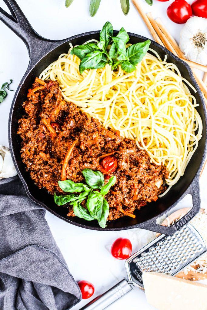 Hakk og spagetti án kjöts, það er eitthvað