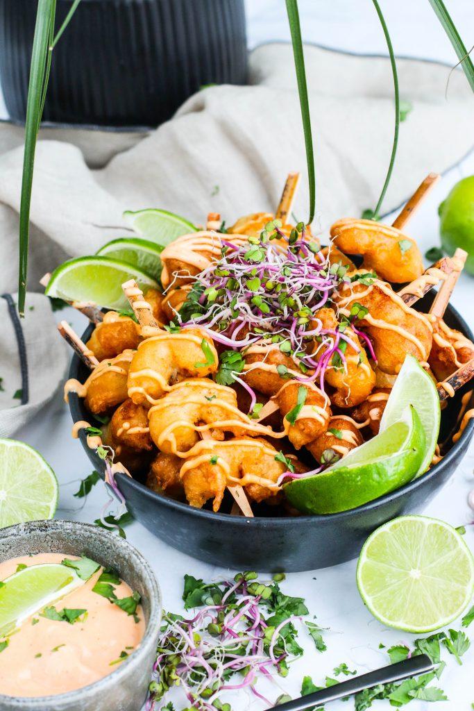 Humar tempura með chili majó