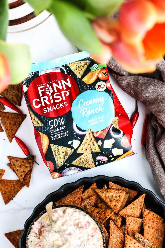 Finn Crisp nachos flögur með ídýfu