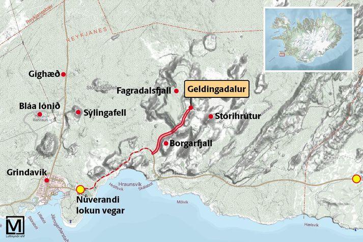 Gönguleið að gosinu