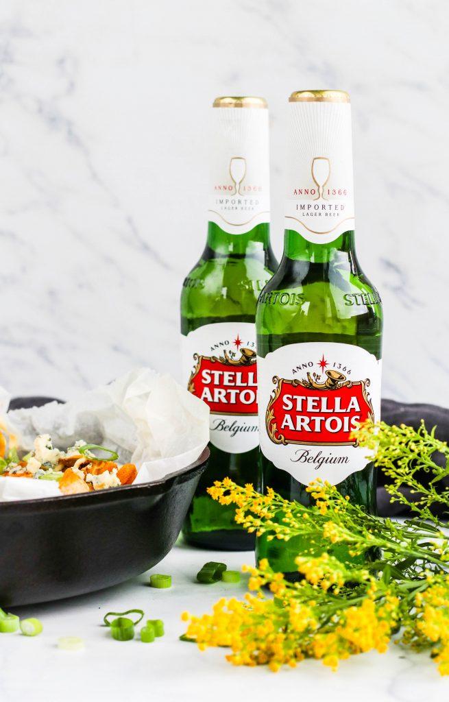 Stella Artois bjór með buffaló fröllum