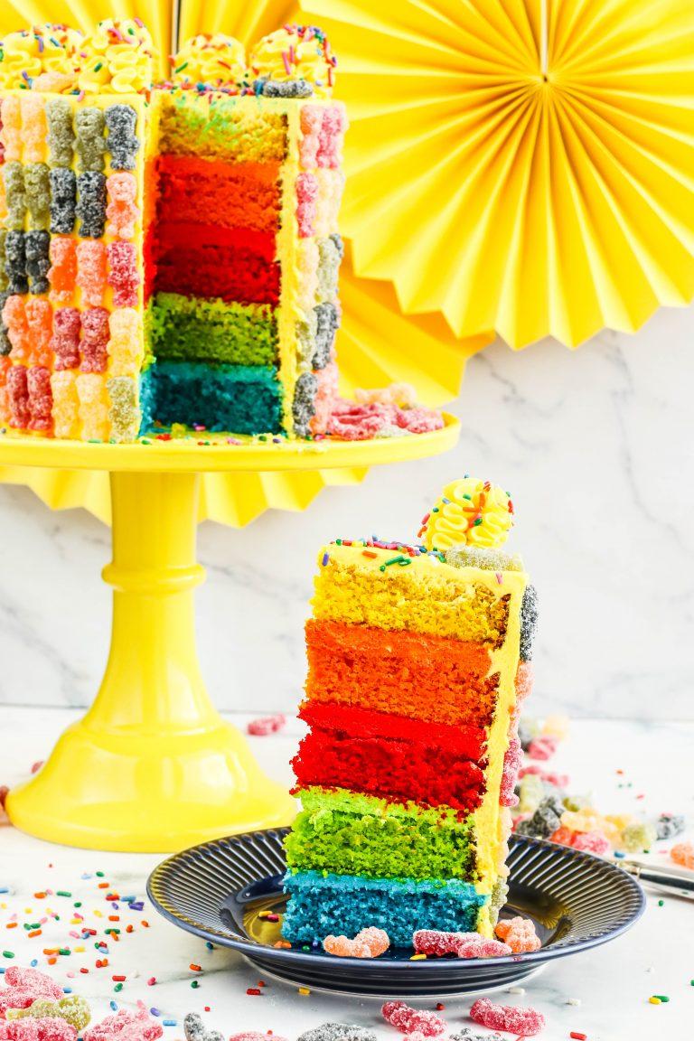 Multicolored cake recipe
