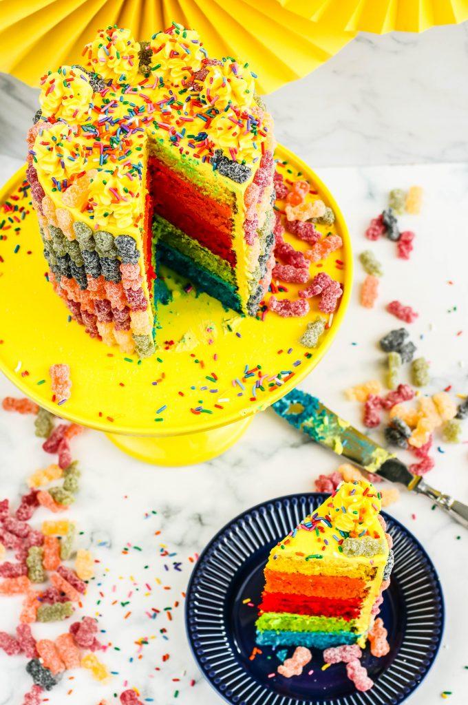 Sour patch candycake