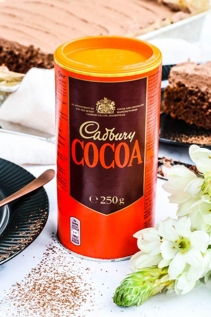 Skúffukaka með Cadbury kakói