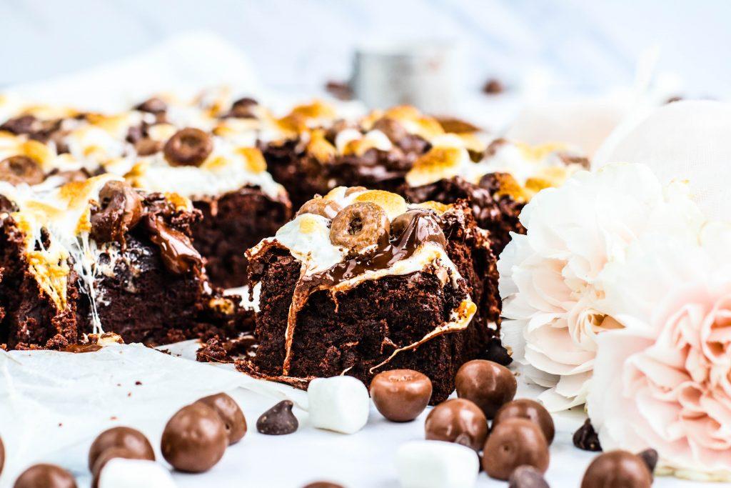 Brownies með sykurpúðum