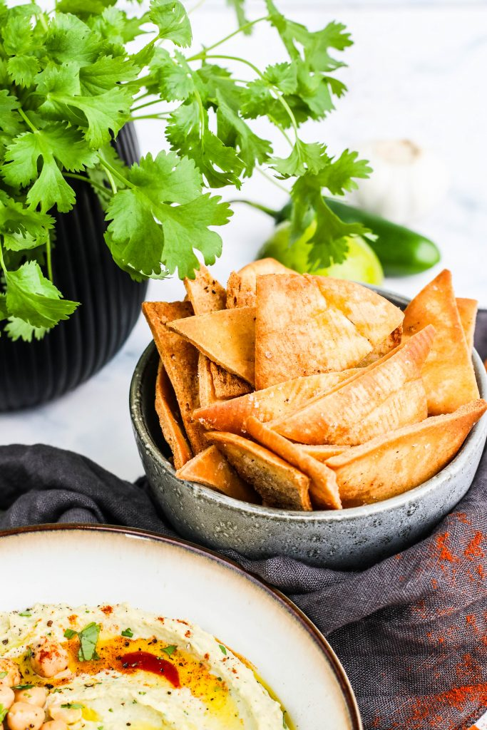 pita chips heimagerðar