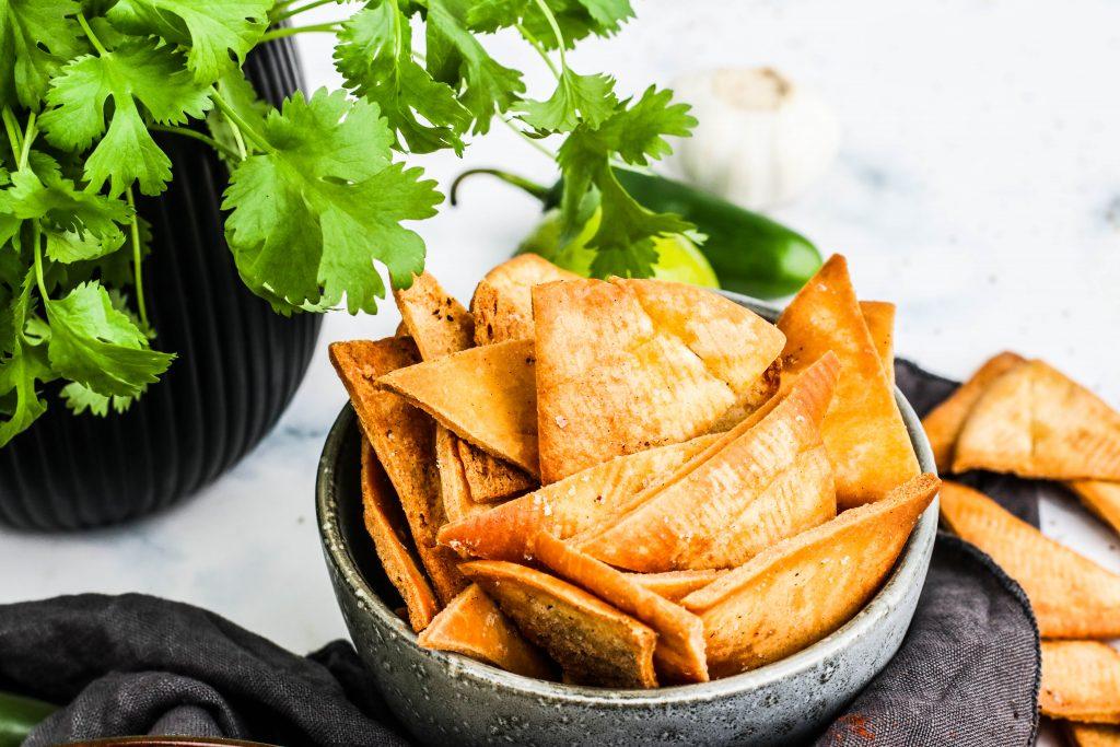 heimagerðar pítuflögur eða pita chips