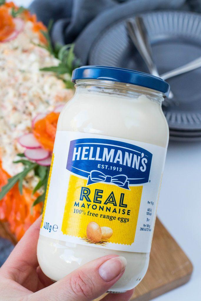 Hellmann's majónes í brauðtertuna