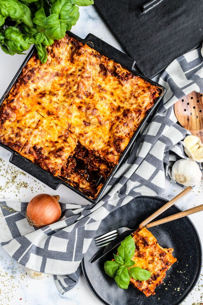 Heimagert lasagna