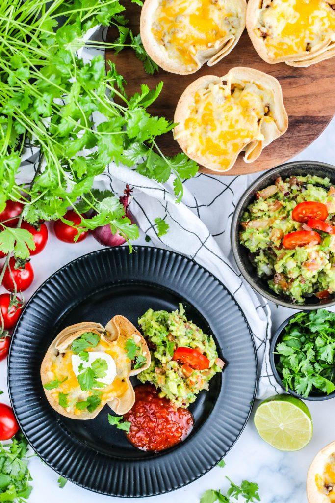 Tacoskálar með hakki