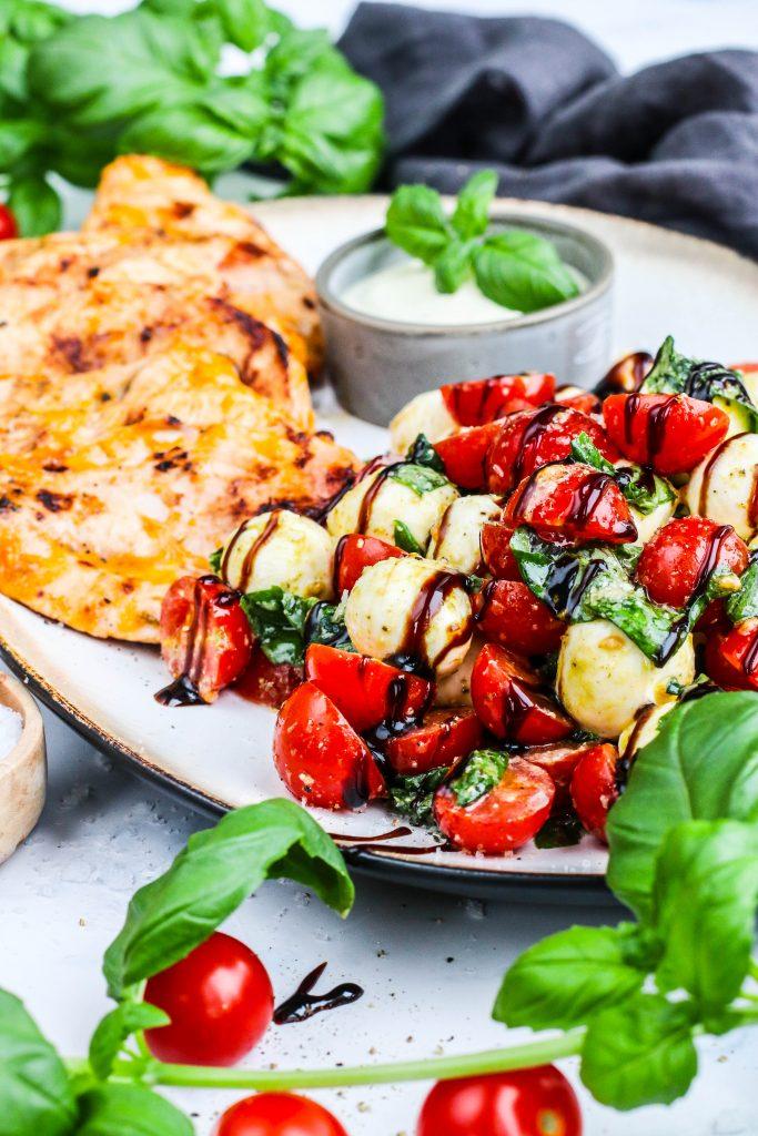 Kjúklingur og mozzarella með pestó