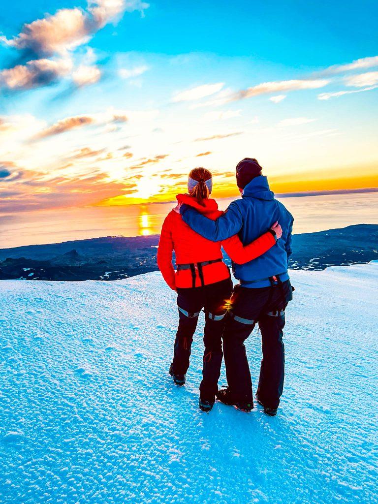 Midnight sun á Snæfellsjökli
