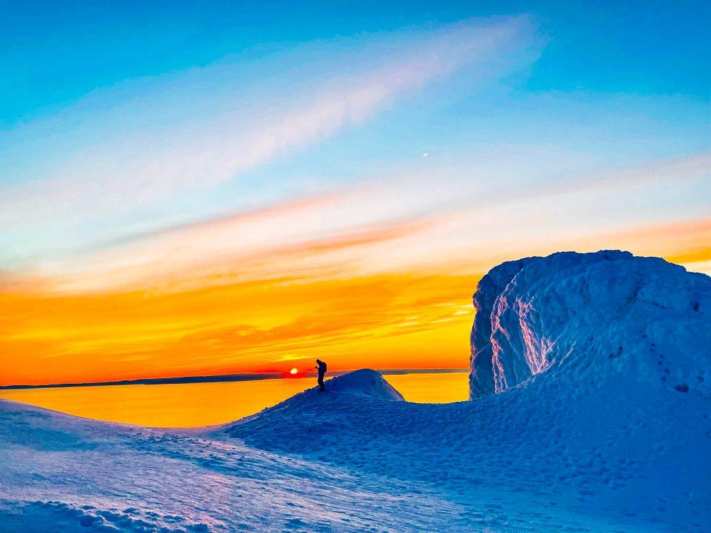 Sólarlag við Snæfellsjökul