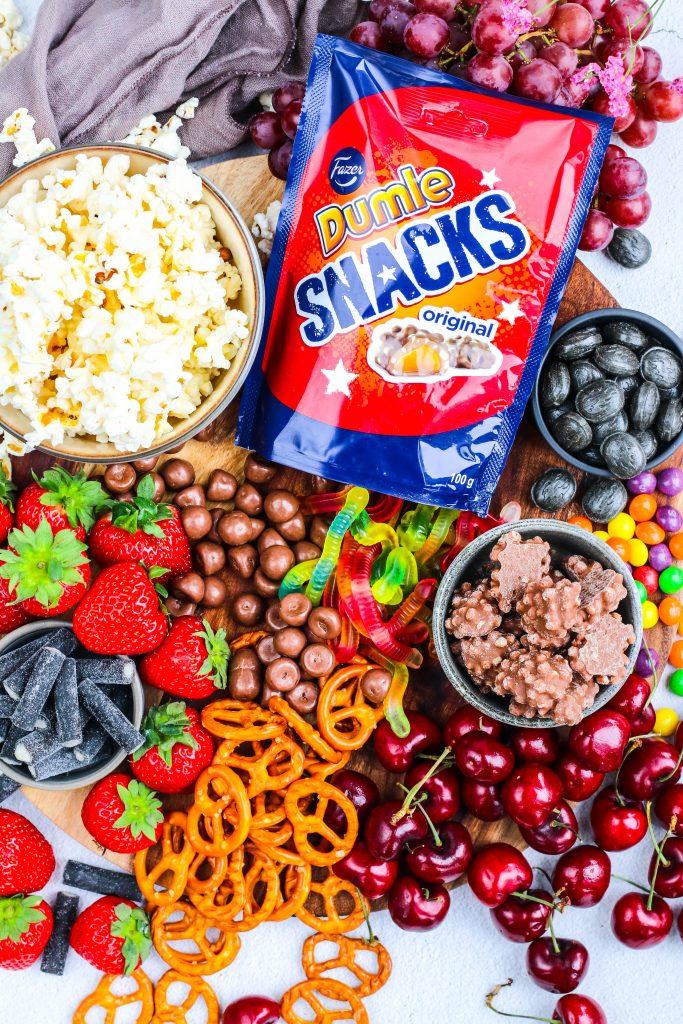 Dumle Snacks á eftirréttarbakka