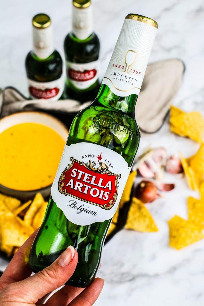 Ostasósa, nachos og stella bjór