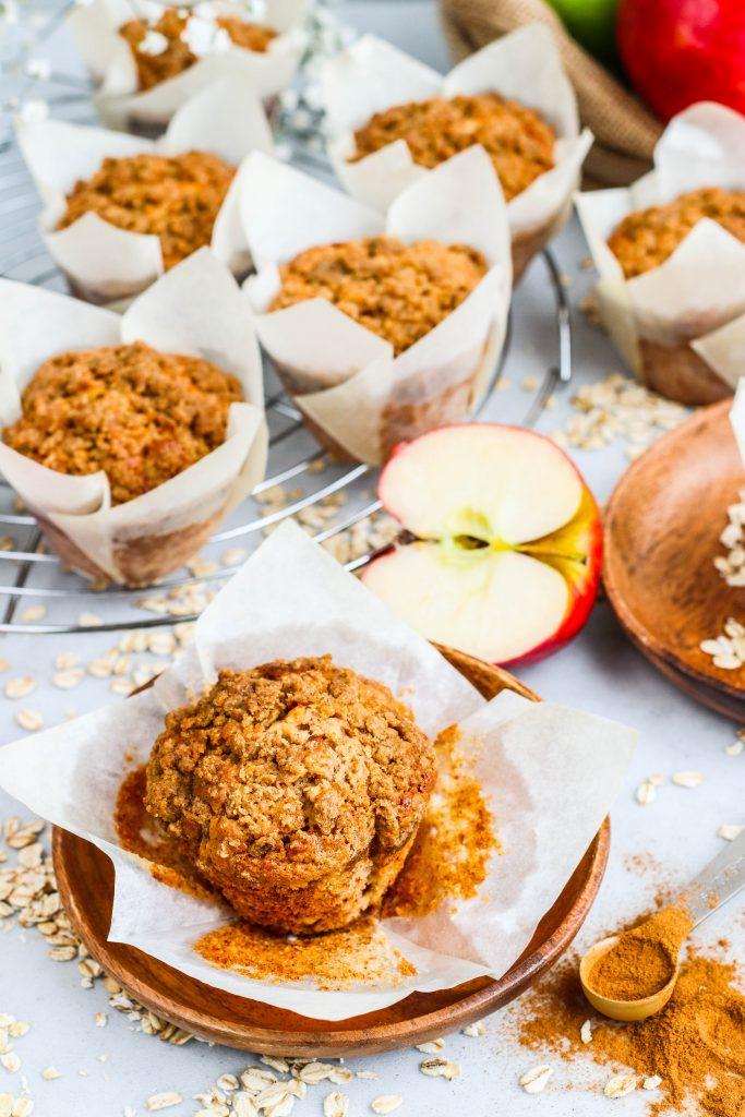 Eplakaka í muffinsformi