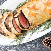 Wellington steik; Kjötbúðin: nautasteik; hátíðarmatur; jólamatur; áramótamatur; sveppasósa; waldorf salat